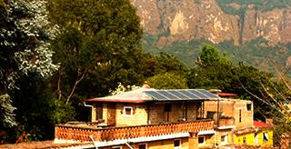 Paneles solares para ahorrar energía.
