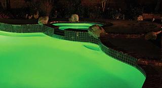 Lámpara intellibrite en color verde.