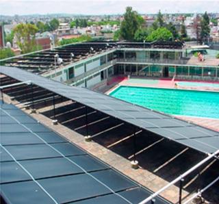 1150 m² de colectores solares para Deportivo Club Alpha 2 de Puebla