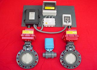 Control solar con válvulas Solarite.
